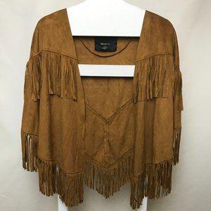 NWT Wild Western Boho Tribal Fringe Poncho Jacket